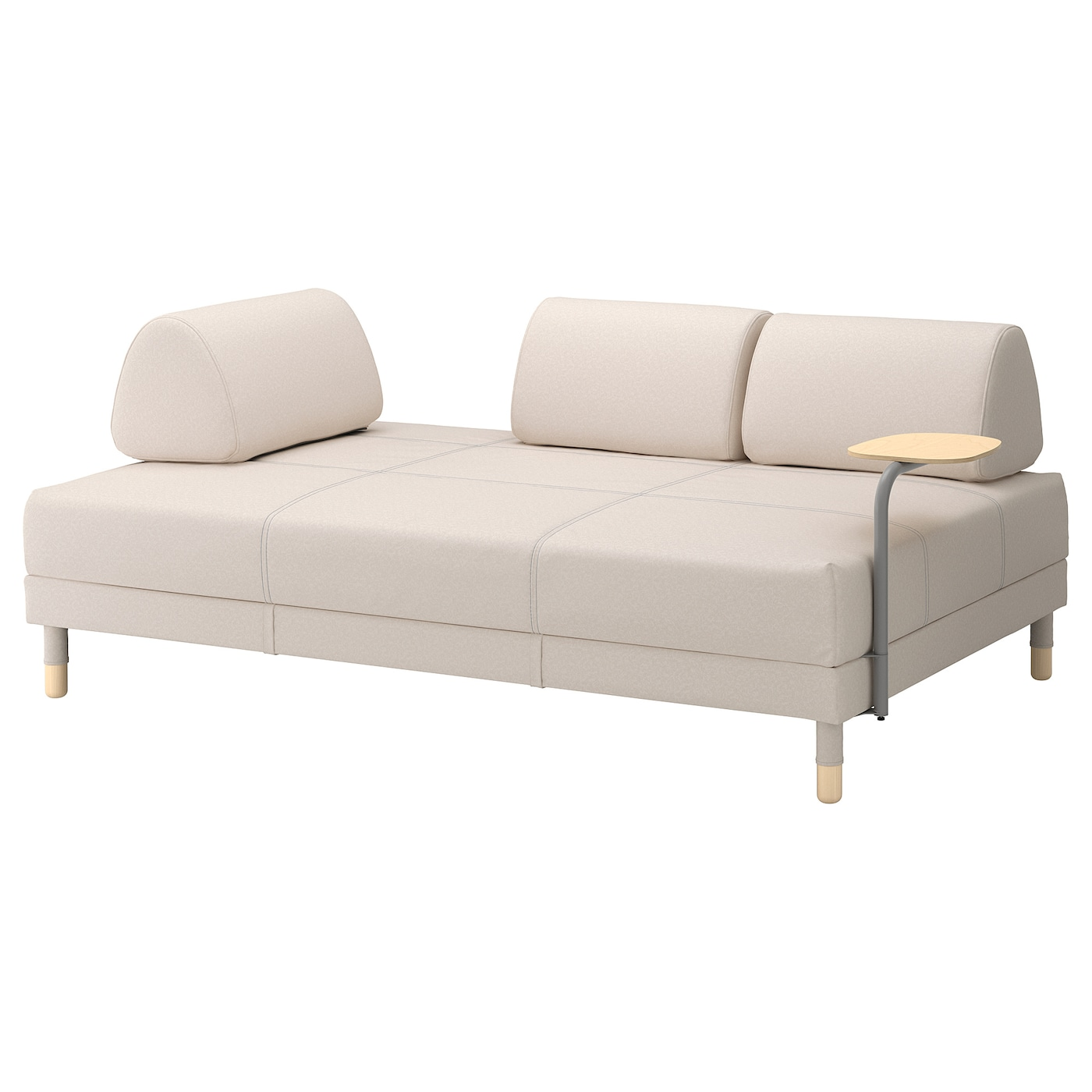 flottebo sofa bed with side table vissle beige 120 cm ikea. Black Bedroom Furniture Sets. Home Design Ideas