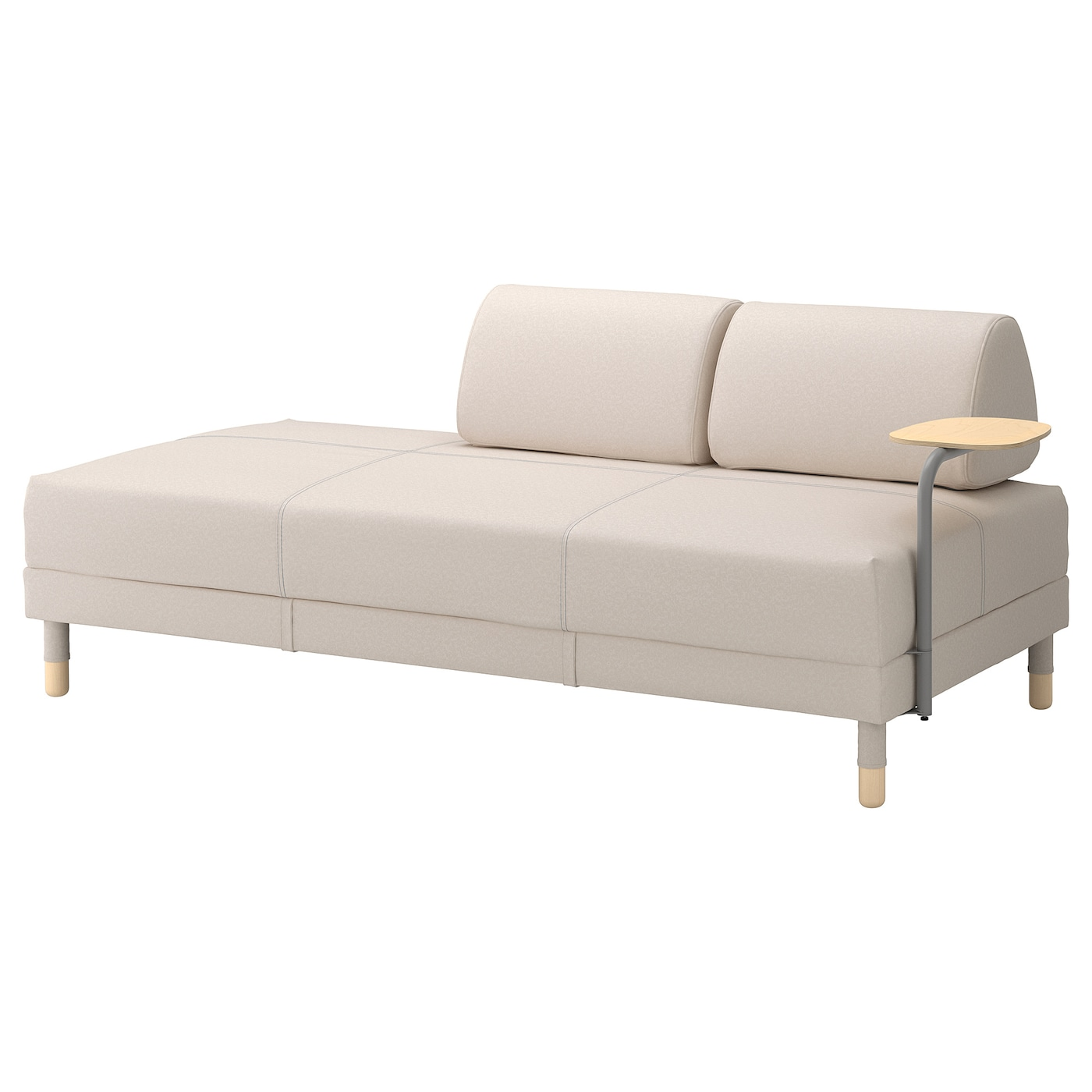 Lugnvik sofa bed with chaise gran n black review refil sofa for Table chaise ikea