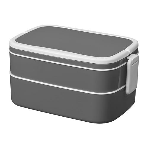 flottig lunch box grey white 21 x 13 x 10 cm ikea. Black Bedroom Furniture Sets. Home Design Ideas