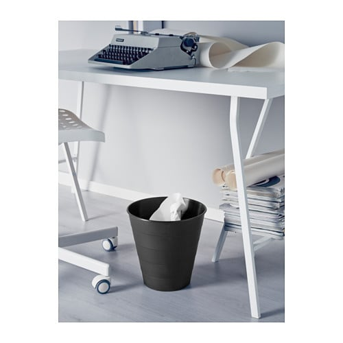 IKEA FNISS waste bin Plastic is a durable material which is simple to wipe clean.