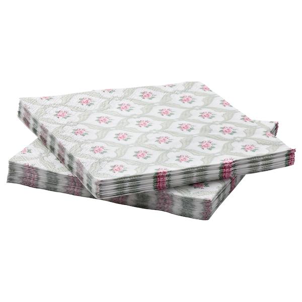 FÖRVÄNTAD Paper napkin, flower, 33x33 cm