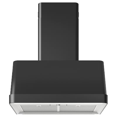 FOKUSERA Wall mounted extractor hood, black