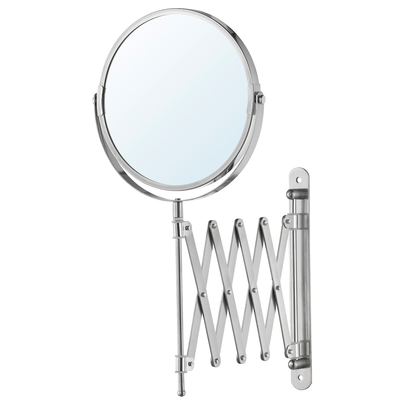 IKEA FRÄCK mirror One side with magnifying mirror glass.