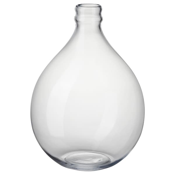 FRAMPRESSA vase clear glass 40 cm 28 cm