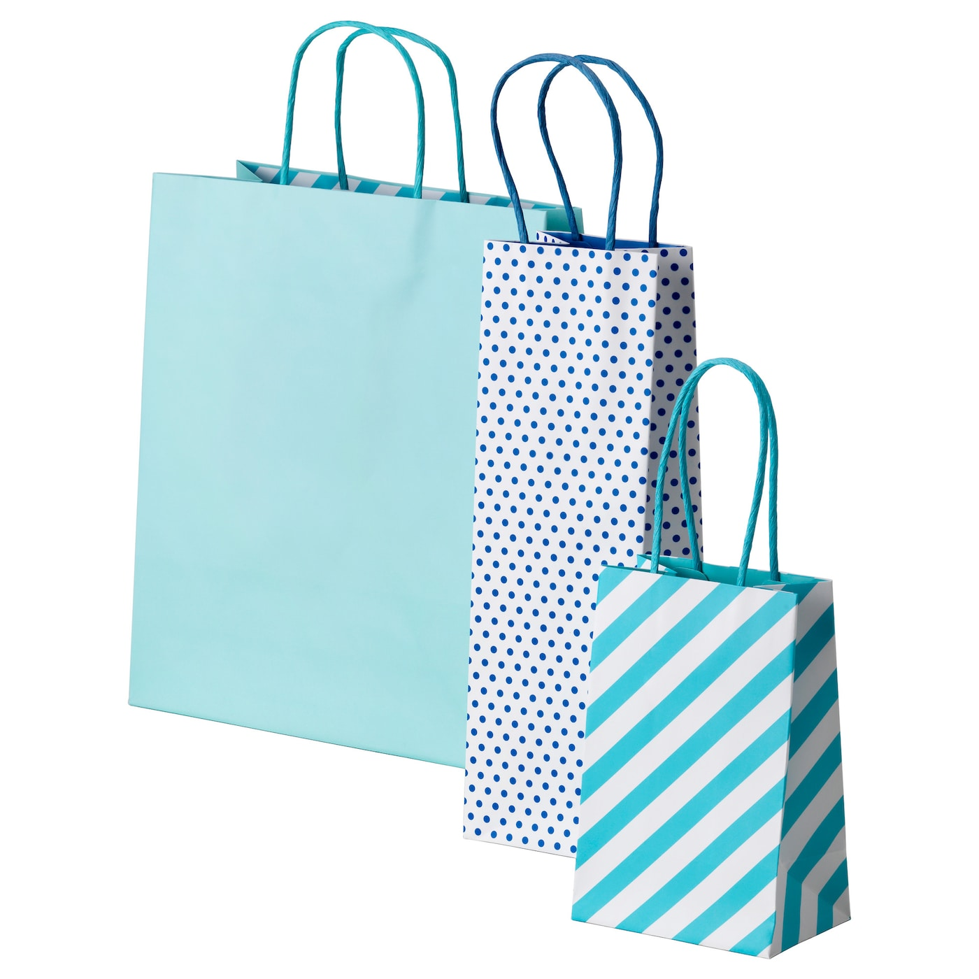 IKEA FRAMSTÄLLA gift bag, set of 3