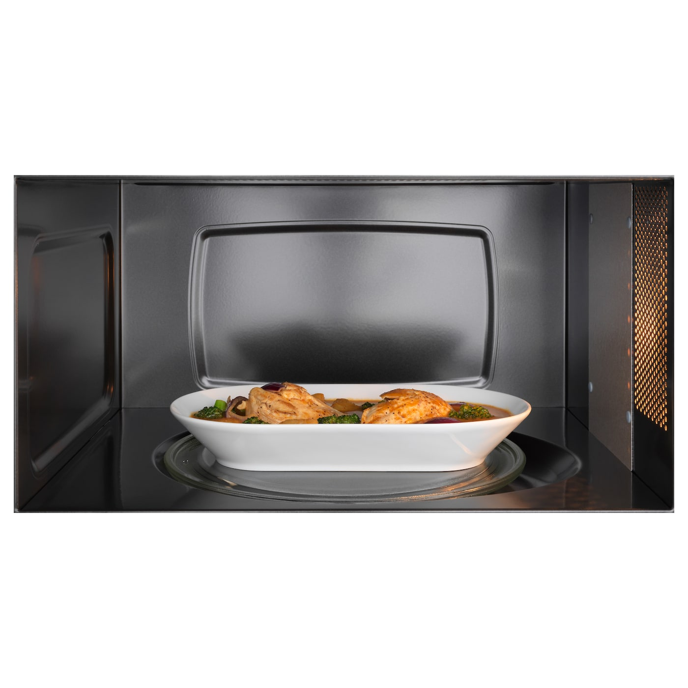 Framtid microwave oven stainless steel ikea for Who makes ikea microwaves