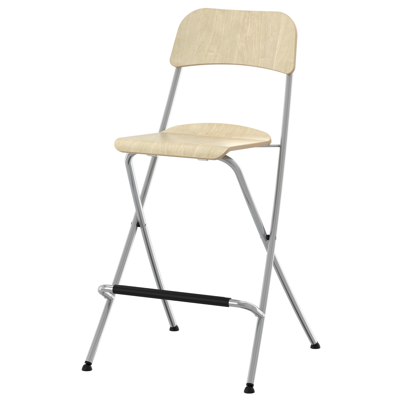 Awesome IKEA FRANKLIN Bar Stool With Backrest, Foldable With Footrest For Relaxed  Sitting Posture.