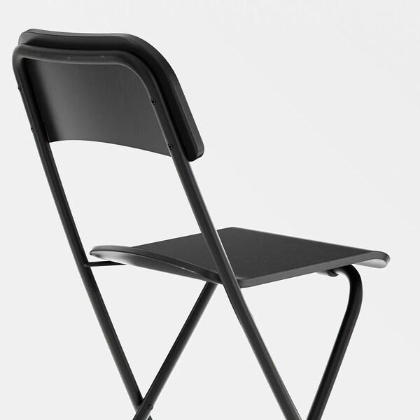 FRANKLIN black, black, Bar stool with backrest, foldable