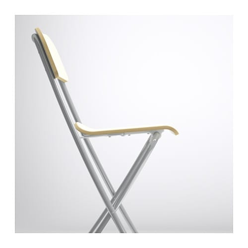 Franklin Bar Stool With Backrest Foldable White Silver