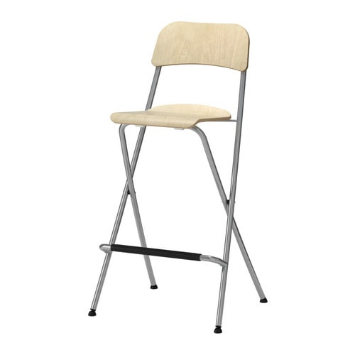 franklin bar stool with backrest foldable 74 cm ikea. Black Bedroom Furniture Sets. Home Design Ideas