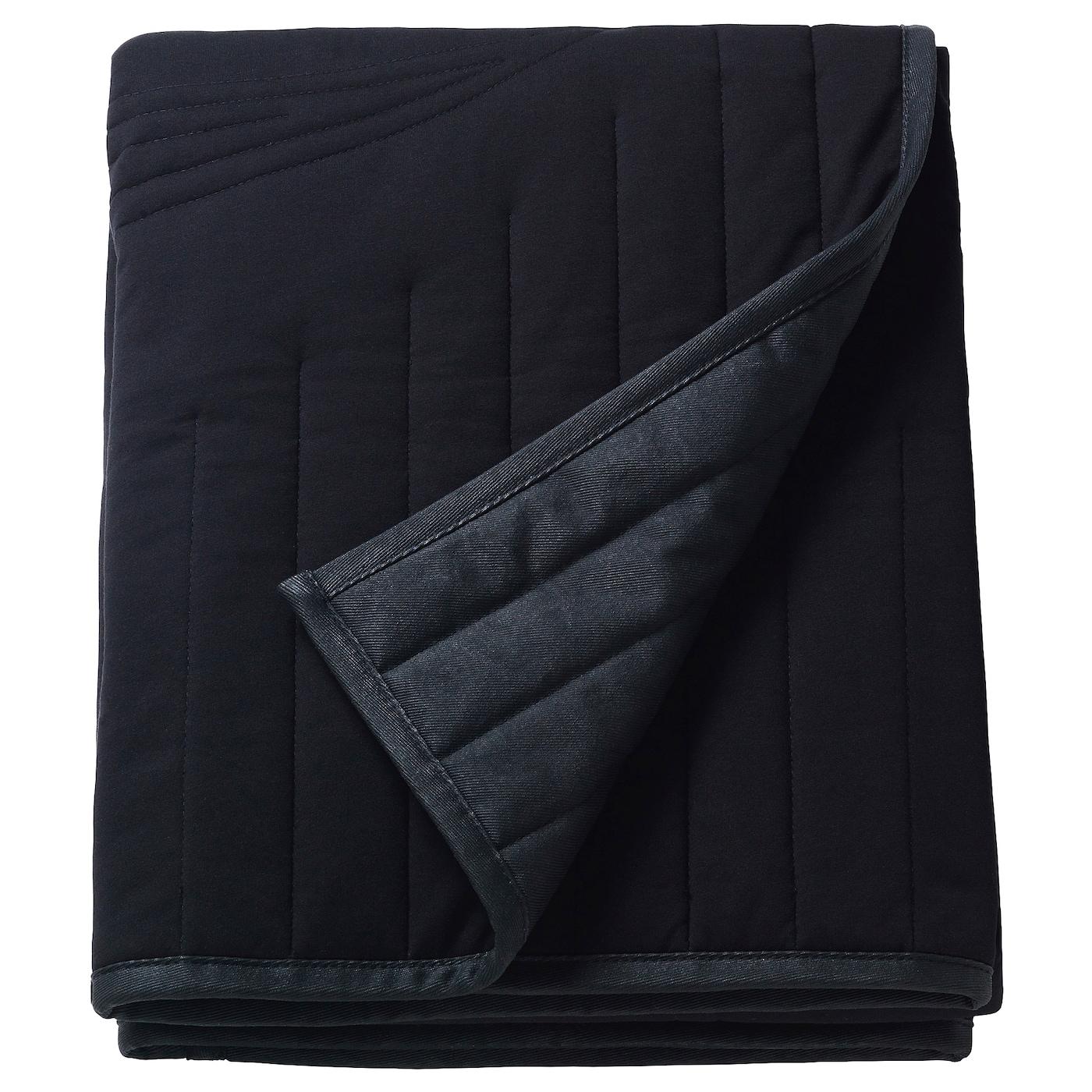 Frekvens Blanket Black Ikea