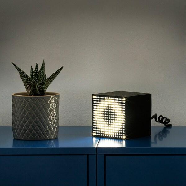 FREKVENS LED multi-use lighting black 1 pack 10 cm 10 cm 10 cm