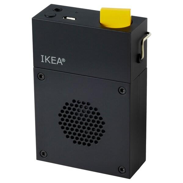 FREKVENS portable speaker black 6 cm 10 cm 3 cm