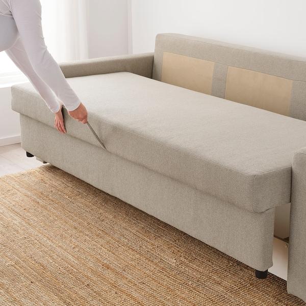 FRIHETEN 3-seat sofa-bed, Hyllie beige