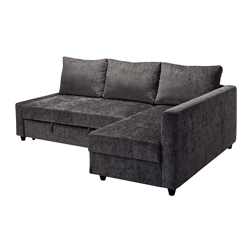 friheten corner sofabed with storage dark grey ikea