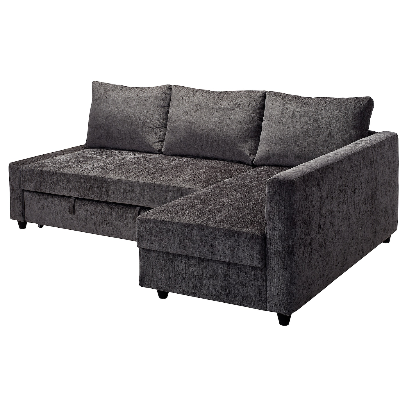 Friheten corner sofa bed with storage dark grey ikea for Chaise bed sofa