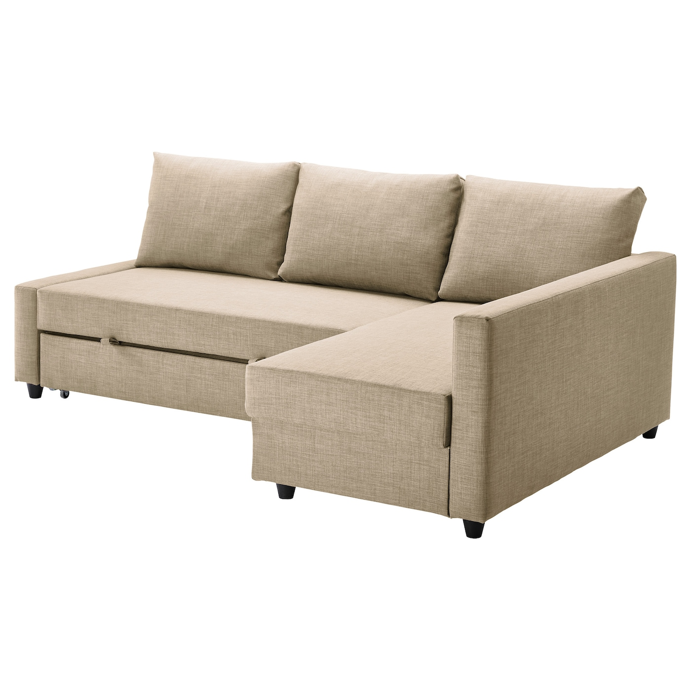 Friheten corner sofa bed with storage skiftebo beige ikea for Chaise longue montreal