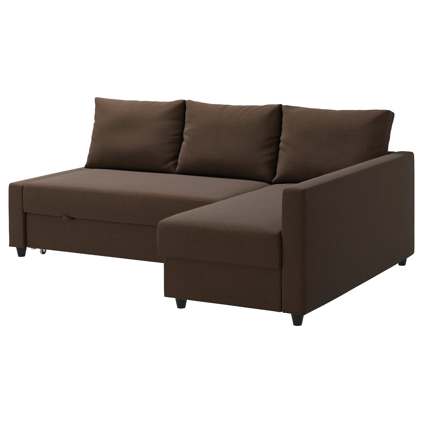 Friheten corner sofa bed with storage skiftebo brown ikea for Divano angolare ikea