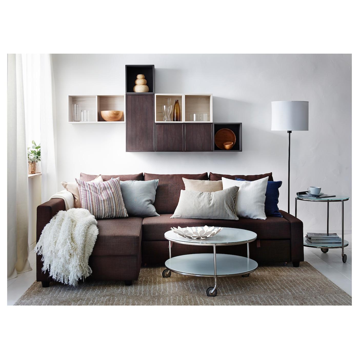 friheten corner sofa bed with storage skiftebo brown ikea. Black Bedroom Furniture Sets. Home Design Ideas