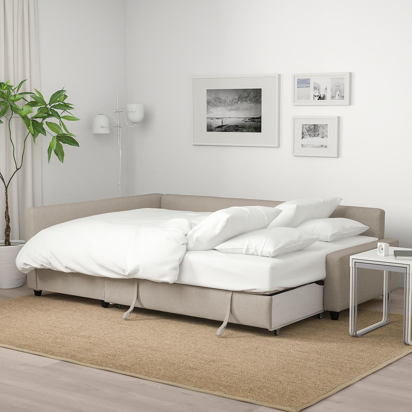 Friheten Hyllie Beige Corner Sofa Bed