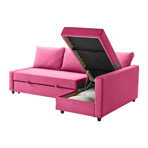 Ikea friheten sofa bed with chaise for Ikea sofa rosa