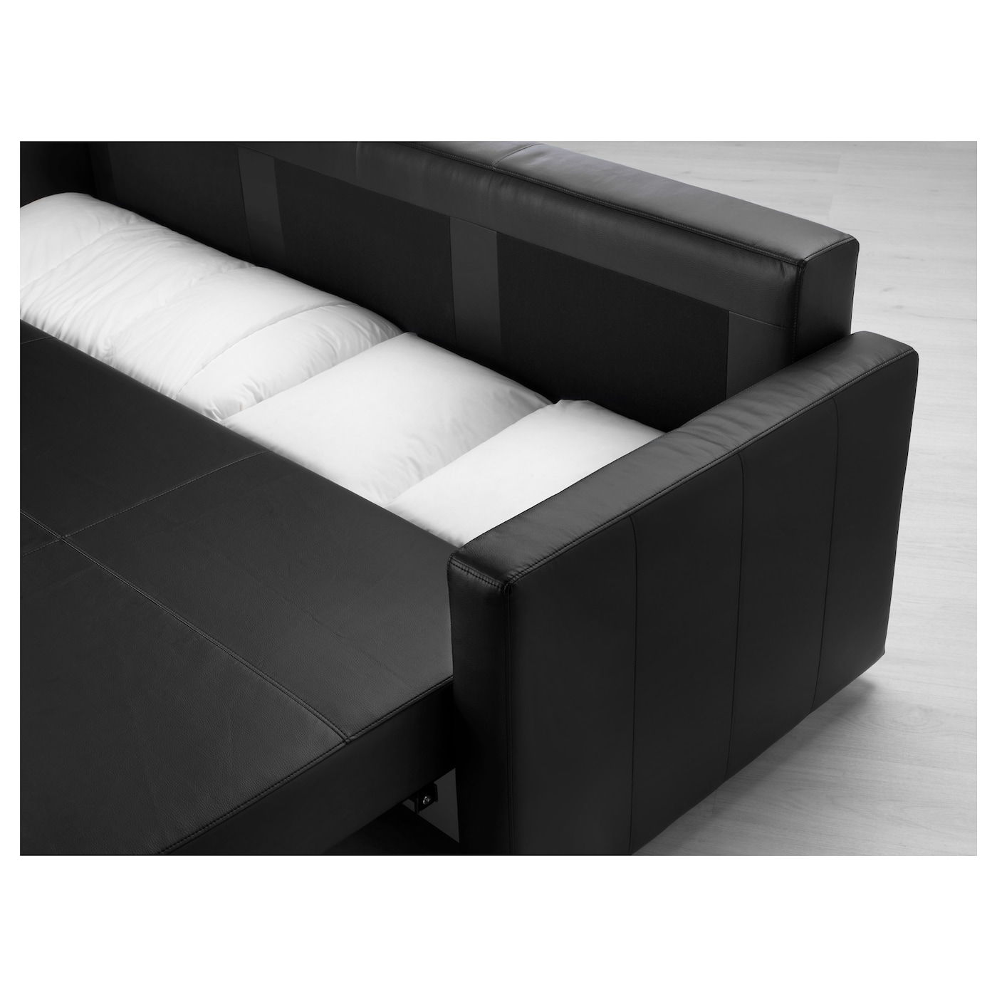 Friheten Three Seat Sofa Bed Bomstad Black Ikea