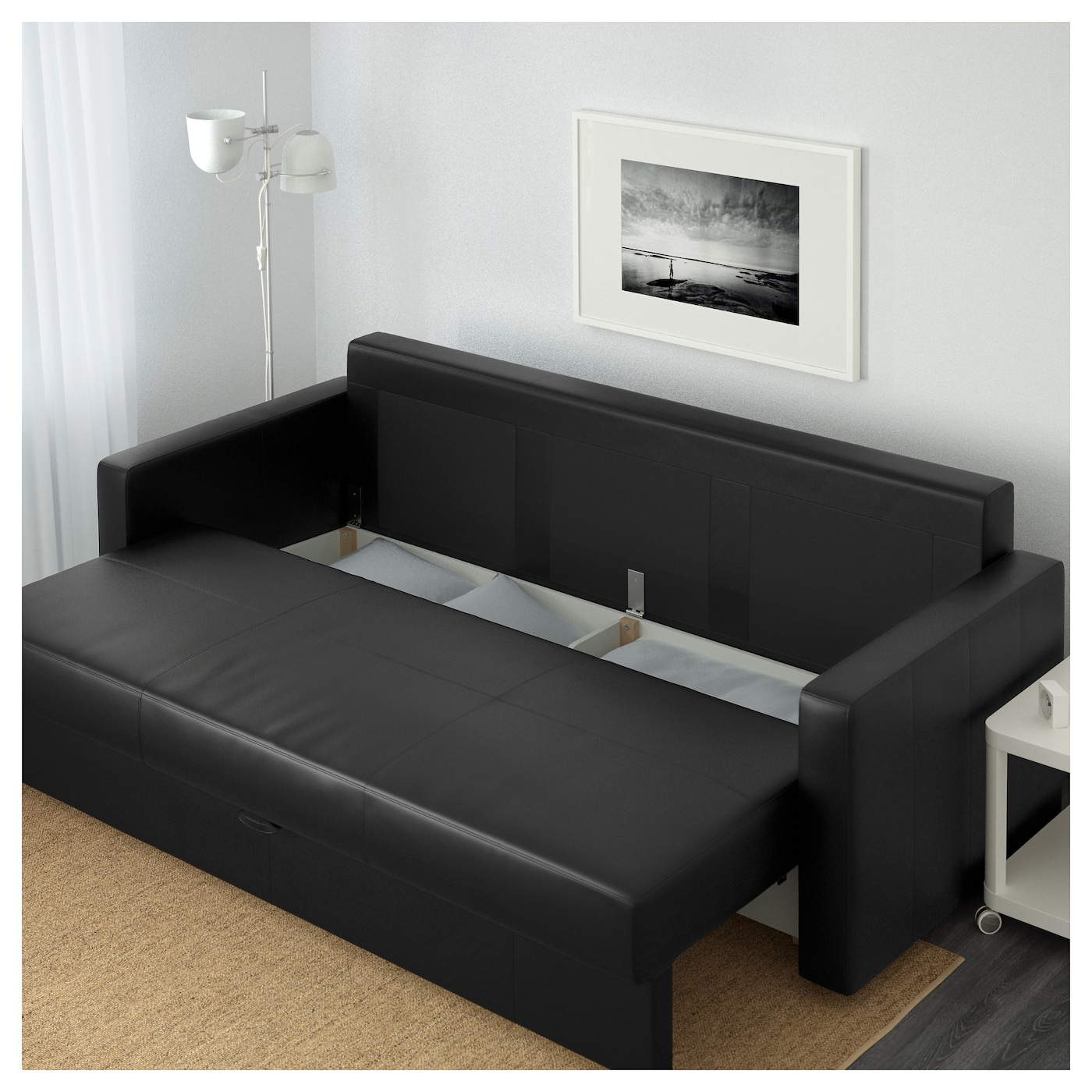 ikea friheten bomstad zwart. Black Bedroom Furniture Sets. Home Design Ideas