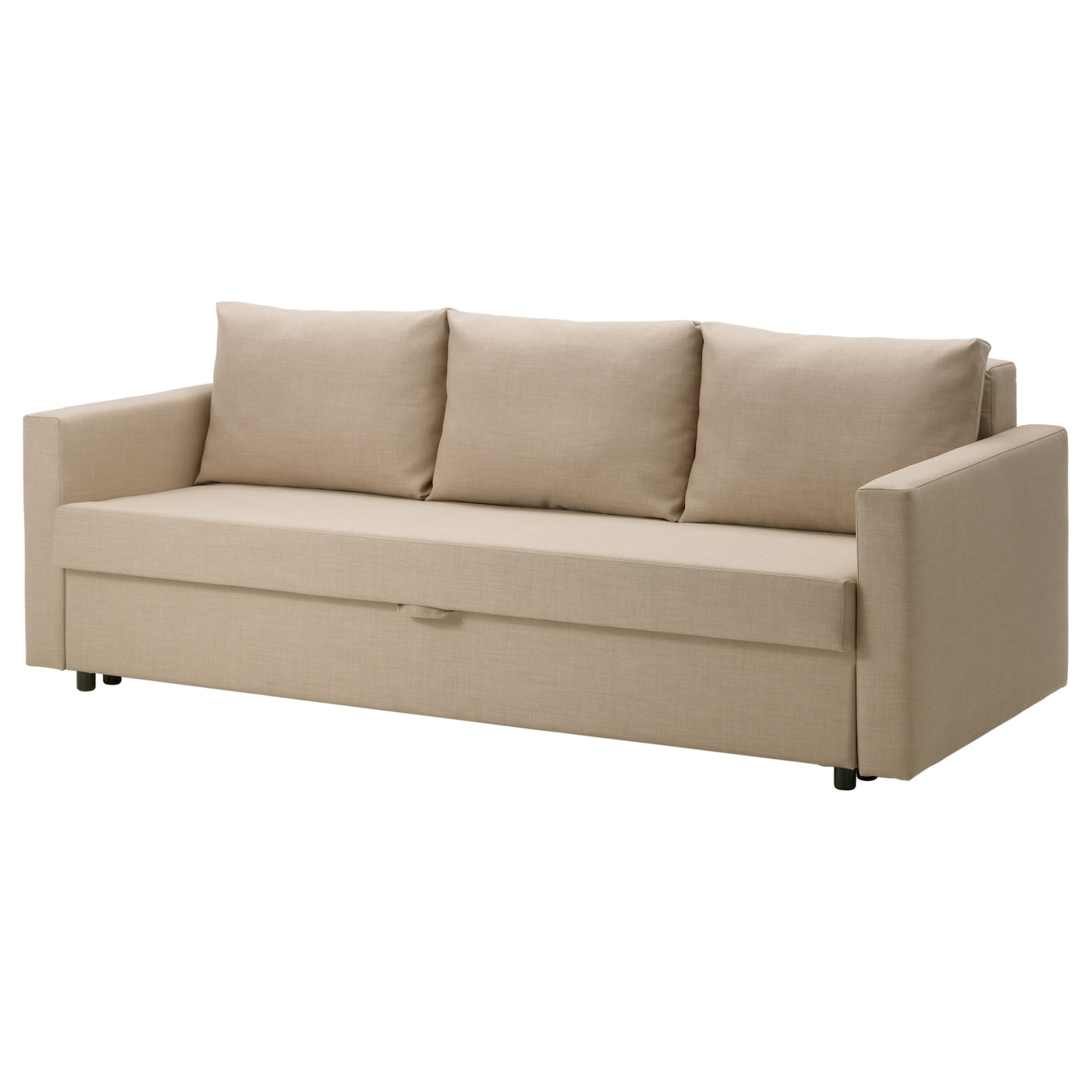 Friheten three seat sofa bed skiftebo beige ikea Ikea divan beds