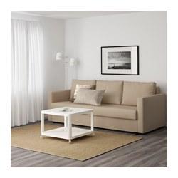 FRIHETEN Three seat sofa bed Skiftebo beige IKEA