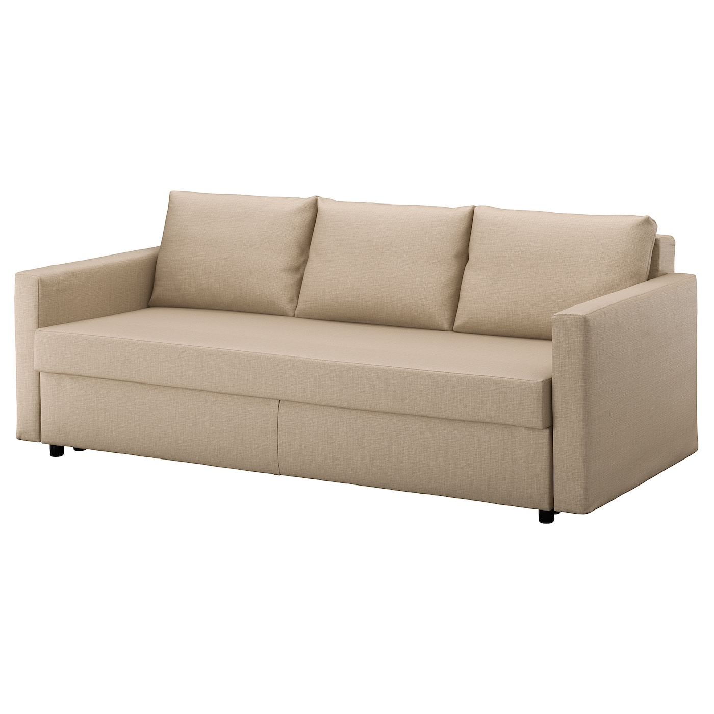 Friheten three seat sofa bed skiftebo beige ikea for Sofa cama 135 ancho