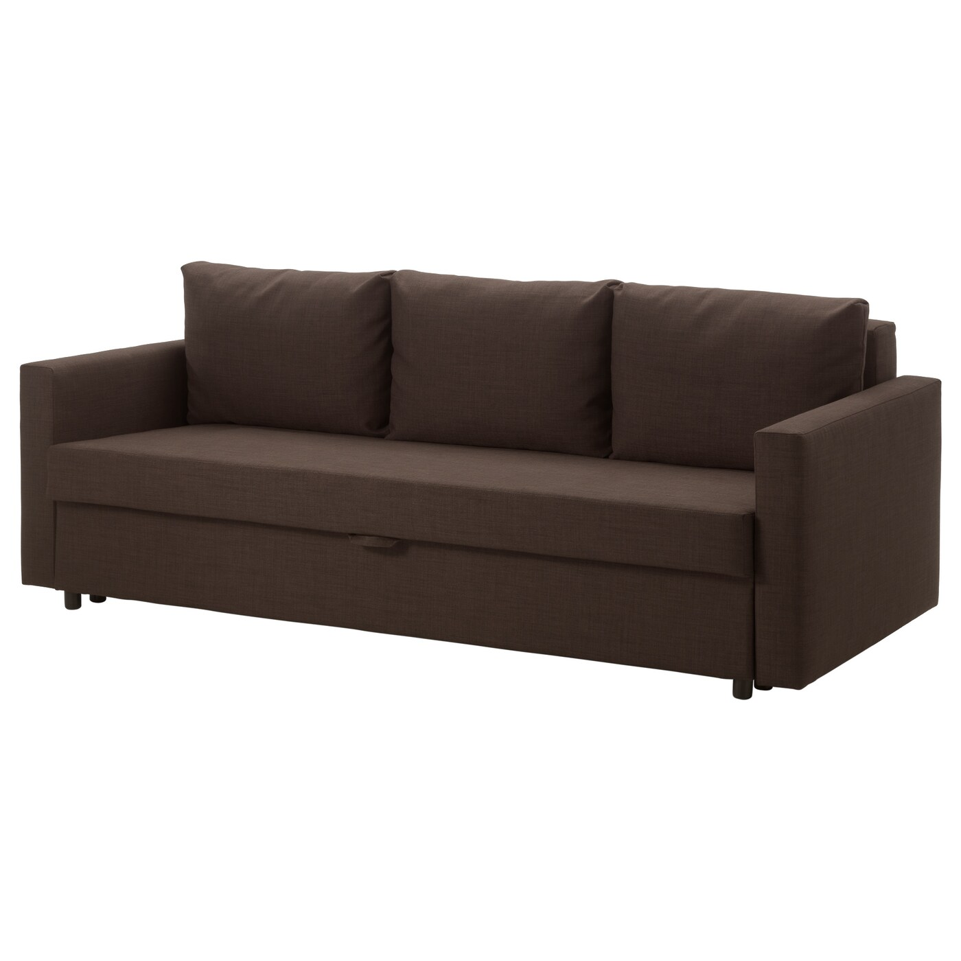 Friheten three seat sofa bed skiftebo brown ikea for 90 cm sofa bed