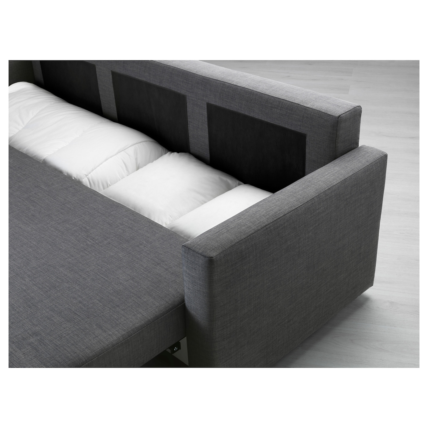 friheten three seat sofa bed skiftebo dark grey ikea. Black Bedroom Furniture Sets. Home Design Ideas