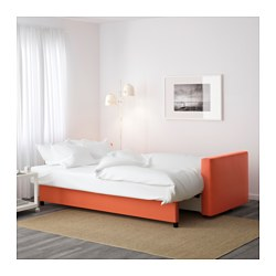friheten three seat sofa bed skiftebo dark orange ikea. Black Bedroom Furniture Sets. Home Design Ideas