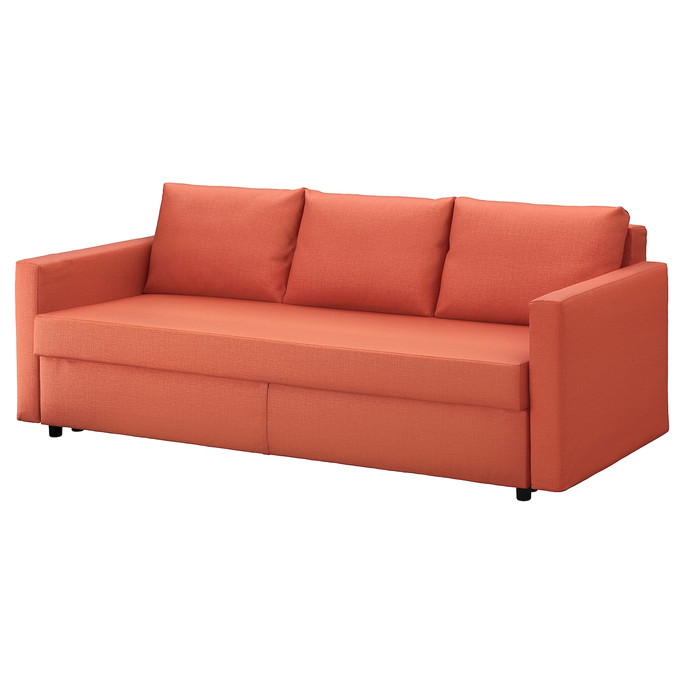 Friheten three seat sofa bed skiftebo dark orange ikea for Sofa orange