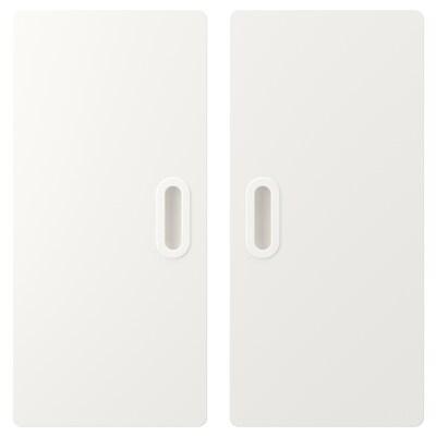 FRITIDS Door, white, 60x64 cm 2 pack