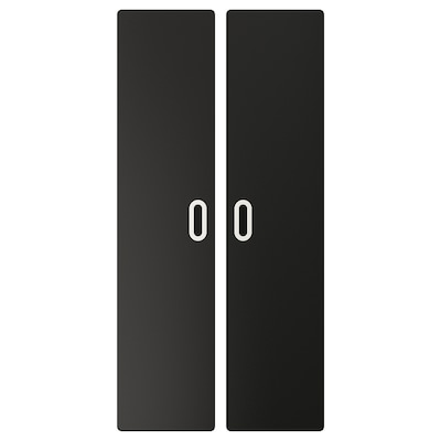 FRITIDS Door with blackboard surface, anthracite, 60x128 cm 2 pack