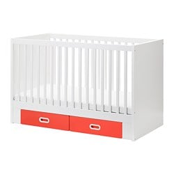 Hervorragend IKEA FRITIDS/STUVA Cot With Drawers The Cot Base Can Be Placed At Two  Different