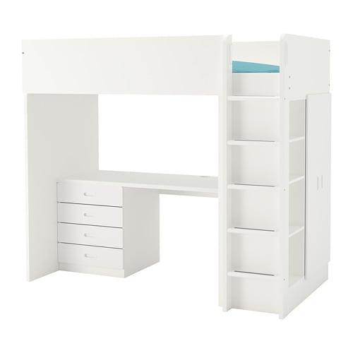 Fritids Stuva Loft Bed Combo W 4 Drawers 2 Doors White White 207 X