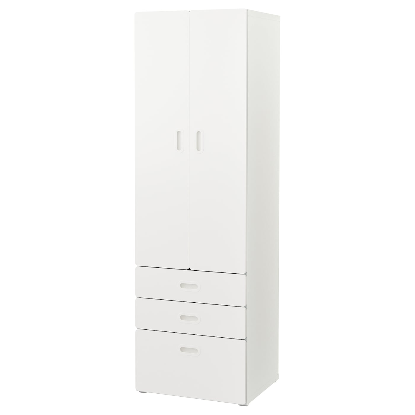 IKEA FRITIDS/STUVA wardrobe Stands steady also on uneven floors since adjustable feet are included.