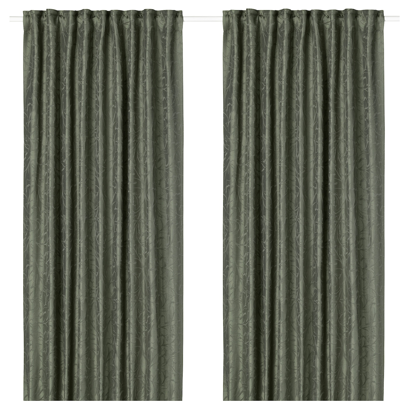 IKEA FRITSE curtains, 1 pair The curtains can be used on a curtain rod or a curtain track.