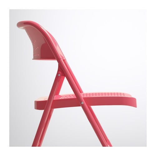 FRODE Folding chair Red IKEA