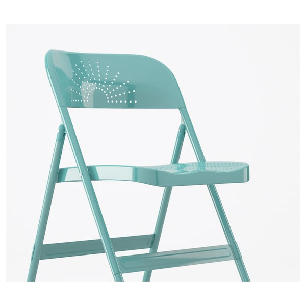 Incredible Folding Chair Frode Turquoise Lamtechconsult Wood Chair Design Ideas Lamtechconsultcom