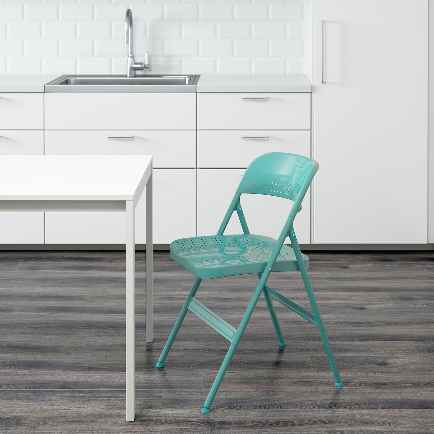 FRODE Folding chair turquoise