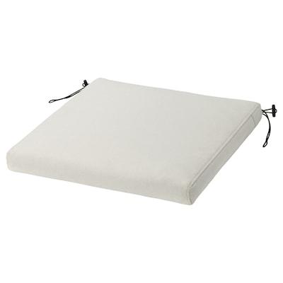 FRÖSÖN Cover for chair cushion, outdoor beige, 44x44 cm