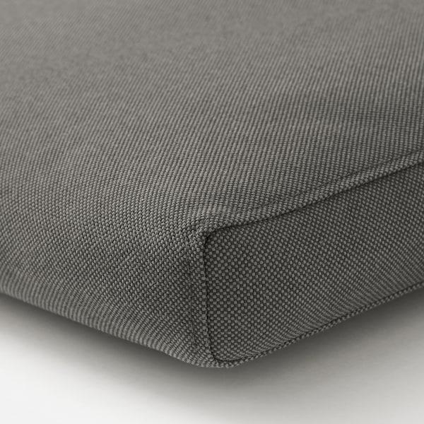 FRÖSÖN/DUVHOLMEN Seat/back cushion, outdoor, dark grey, 116x45 cm