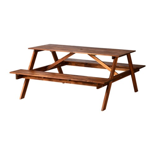 Fruholmen picnic table brown 150x149x70 cm ikea - Table reglable en hauteur ikea ...