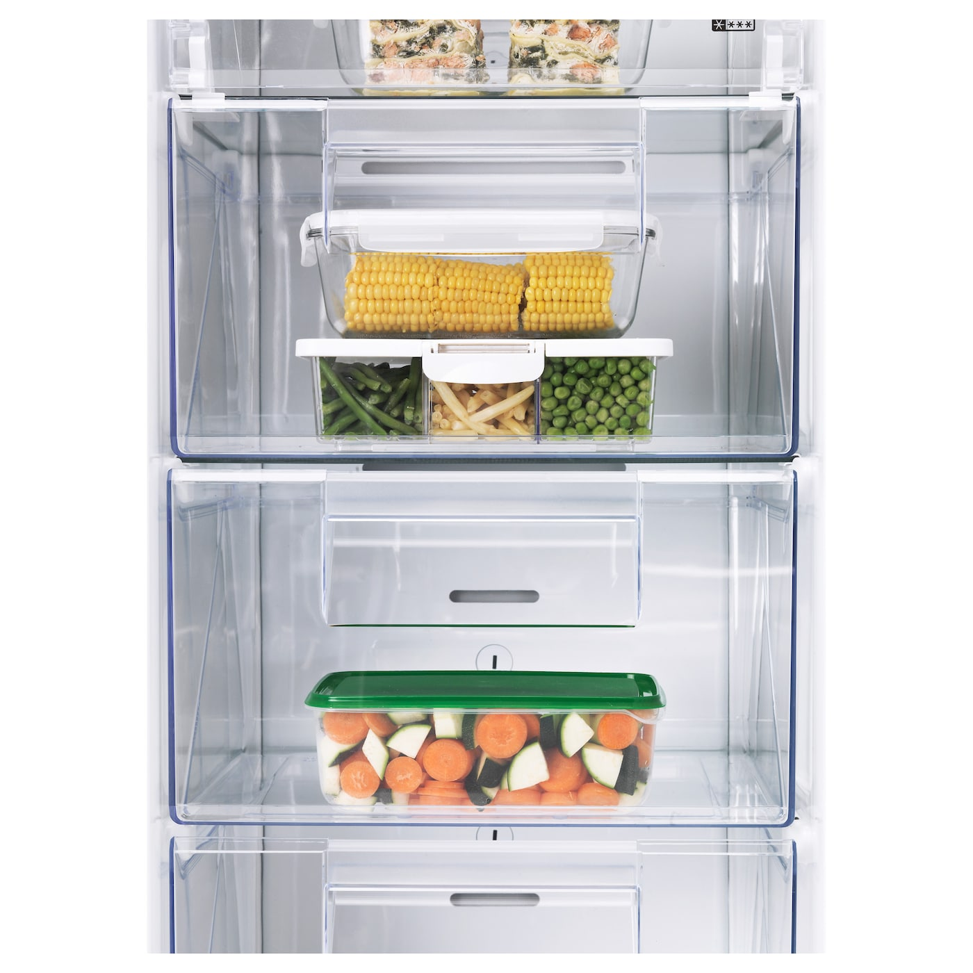 IKEA FRYSA integrated freezer A++ 5 year guarantee. Read about the terms in the guarantee brochure.
