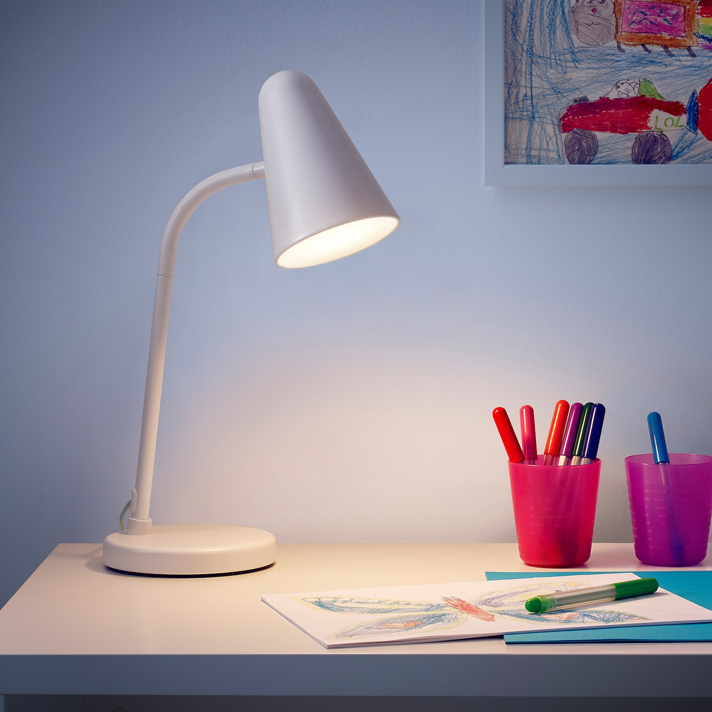 IKEA FUBBLA LED work lamp Tested and approved for children.
