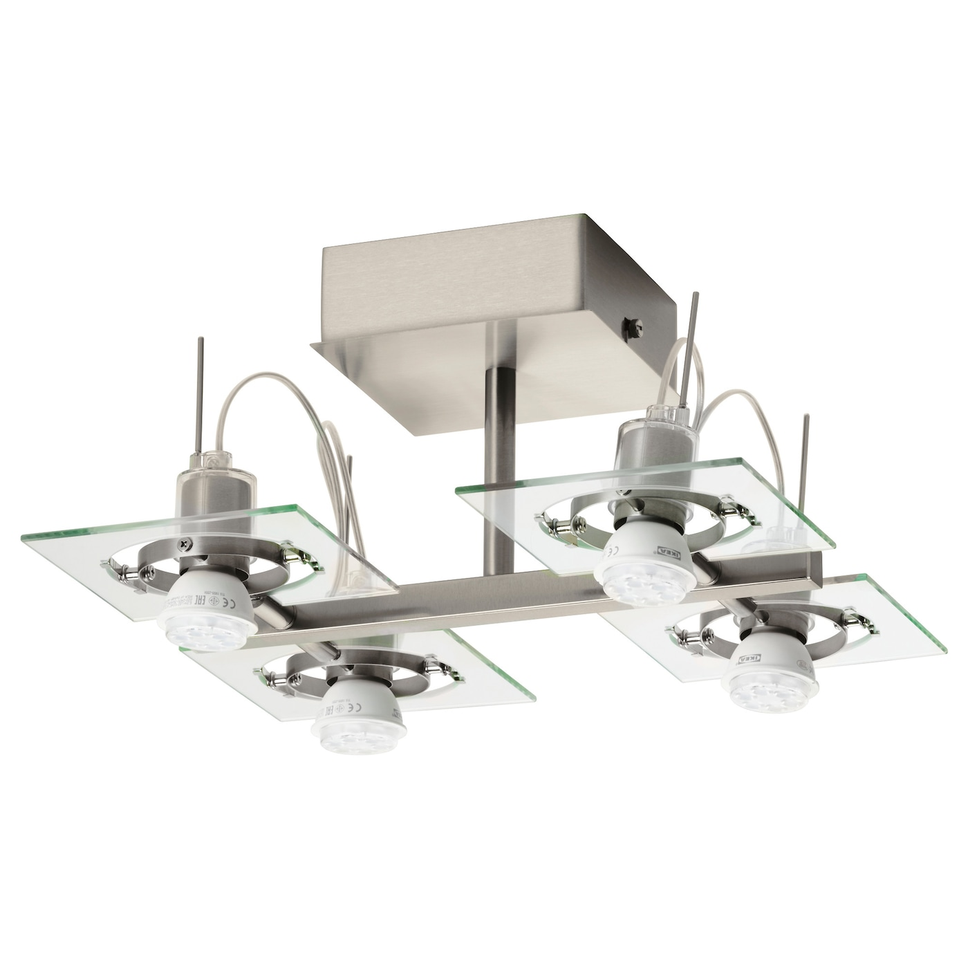 IKEA FUGA ceiling spotlight with 4 spots Adjustable spotlights.