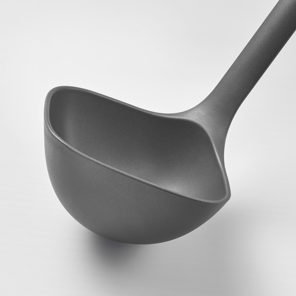 FULLÄNDAD Soup ladle, grey, 31 cm